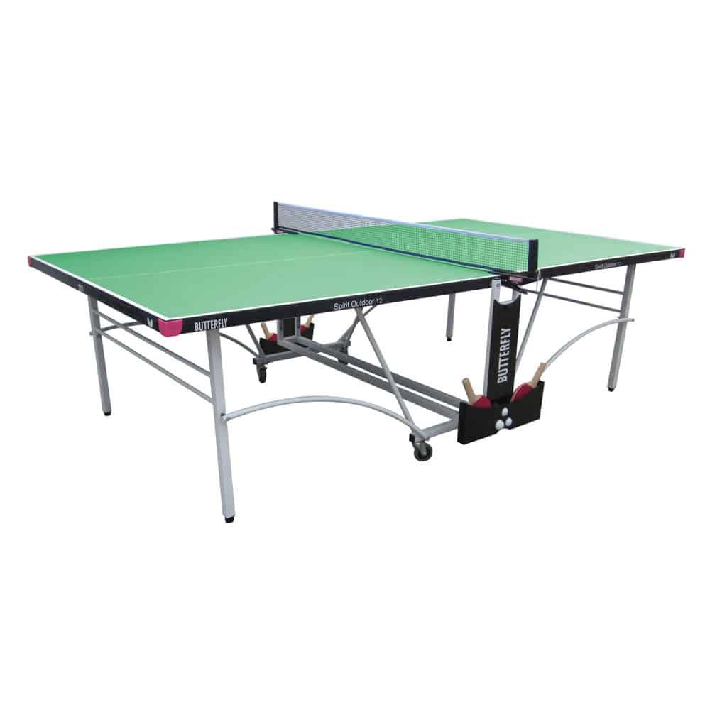 12 green outdoor rollaway table tennis table pingpongpower co uk